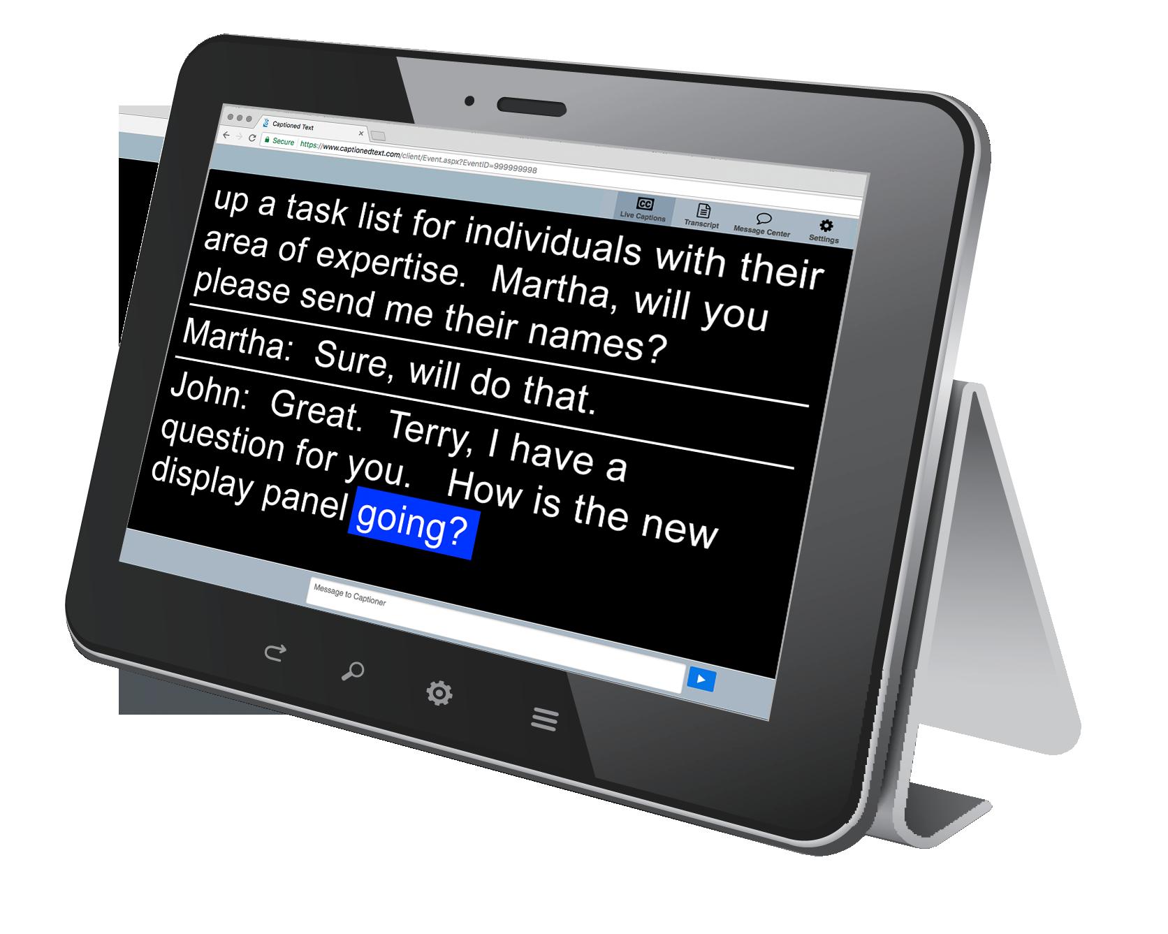 RCC-on-tablet